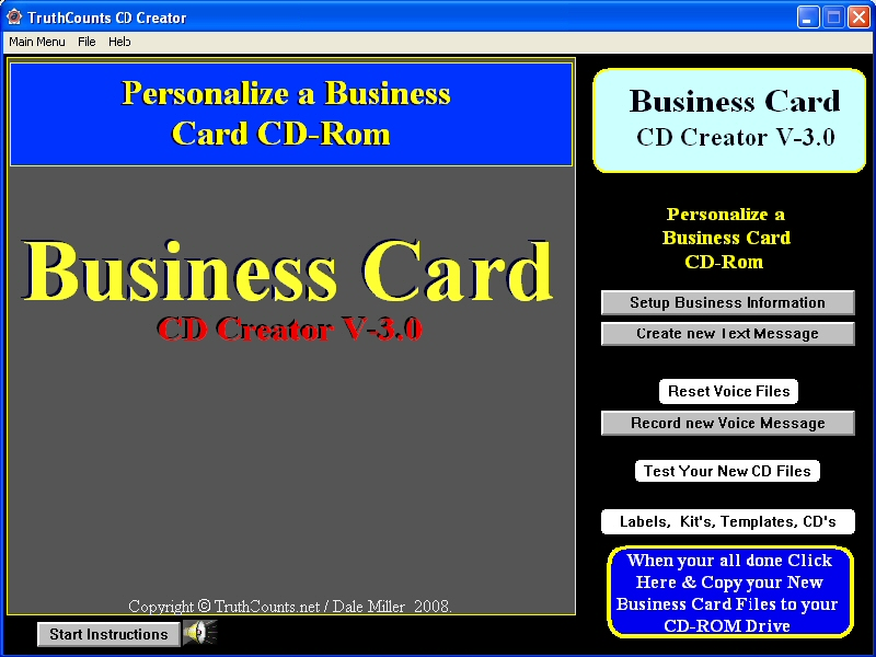 Create your Customized Business Card or full size CDs to promote your business.
